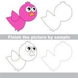 Bird. Drawing worksheet. Royalty Free Stock Photo