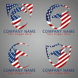 Bird Eagle American Flag Concept Logo / Icon / Mascot Royalty Free Stock Image