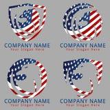 Bird Eagle Logo American Flag Version Stock Image