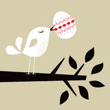 Bird with Easter Egg vector illustration
