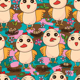 Bird egg cute seamless pattern Royalty Free Stock Images