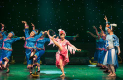 Bird elves-Turtledove-Chinese folk dance. May 15, 2016, from Jiangxi province around the dancers gathered to exchange skills. At the Nanchang Repertory Theater Stock Photography