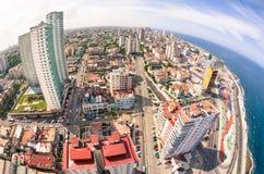 Bird eye aerial view of Havana city capital of Cuba Stock Photography
