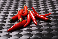 Bird eye chillies. One of the hottest in the world Stock Image