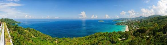 Bird-eye panorama of Phuket coastline Royalty Free Stock Images