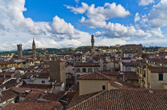 Bird eye panoramic view of Florence from one of many towers Stock Image