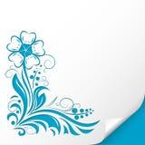 bird eye s speedwell 压印的蓝色装饰例证 在纸板料 库存图片