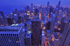 Bird eye view chicago Royalty Free Stock Photography