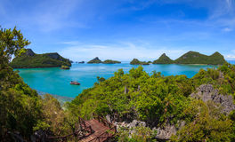 Bird eye view of Angthong national marine park, koh Samui, Thail Stock Images