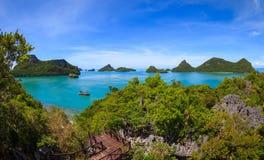 Bird eye view of Angthong national marine park, koh Samui, Thail Stock Images