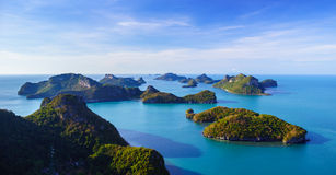 Bird eye view of Angthong national marine park, koh Samui, Thail Stock Photography