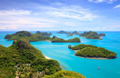Bird eye view of Angthong national park, Thailand Royalty Free Stock Photography