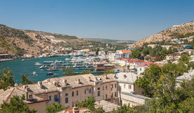 Bird-eye view of Balaklava bay Royalty Free Stock Photos