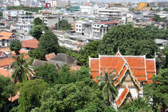 Bird eye view of Bangkok Royalty Free Stock Photo