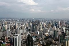 Bird eye view of Bangkok skyscrapers Stock Photography