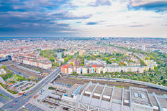 Bird eye view of Berlin Royalty Free Stock Photo