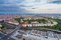 Bird eye view of Berlin Stock Photography