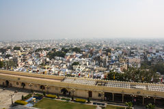 Bird eye view from city palace, Udaipur, India. Stock Photos