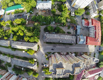 Bird eye view of city suburbs. Tyumen. Russia Royalty Free Stock Photography