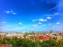 bird eye view in city Stock Photos