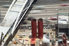 A bird eye view of a construction site in Hong Kong, China. / Stock Images