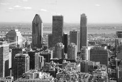 Bird eye view of downtown Montreal Royalty Free Stock Photo