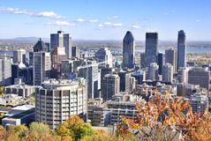 Bird eye view of downtown Montreal Stock Photo