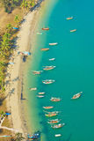 Bird eye view with fishing thai boats Stock Image