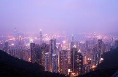 Bird Eye View From The Peak Hongkong Twinlight Royalty Free Stock Image