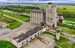 Bird eye view on grain elevator Stock Photography