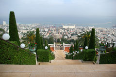 Bird eye view on Haifa Stock Image