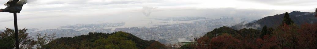 Bird Eye view of Kobe from Mt. Rokko, Kobe, Japan Royalty Free Stock Images