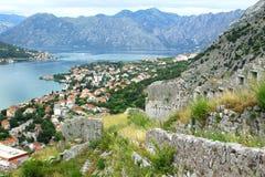 Bird-eye view of Kotor, Montenegro Royalty Free Stock Image