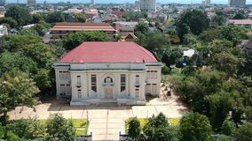 The bird eye view of lanna Folklife Museum in Chiang Mai, Thailand