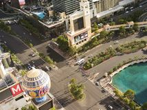 View of las vegas panorama during day time stock photography