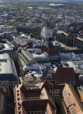 Bird Eye View of Leipzig II. A shot of Leipzig, Germany, from the top of a tall building Stock Photo