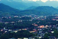 Bird eye view in Luang Prabang II Royalty Free Stock Photo