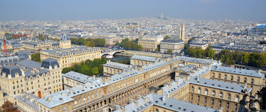 Bird eye view from Notre Dame of Paris Stock Photo
