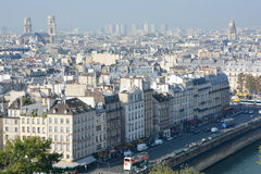 Bird eye view from Notre Dame of Paris Royalty Free Stock Photography