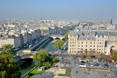 Bird eye view from Notre Dame Royalty Free Stock Images