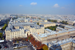 Bird eye view from Notre Dame Royalty Free Stock Photography