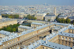 Bird eye view from Notre Dame Royalty Free Stock Photos