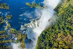 Free Bird Eye View Of The Victoria Falls Waterfall Royalty Free Stock Photos - 90421858