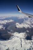 Bird eye view over snow mountain Stock Photography