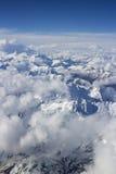 Bird eye view over snow mountain Stock Images