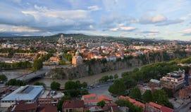 Bird eye view panorama. Tbilisi. Georgia. Stock Photo