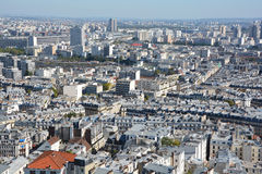 Bird eye view of Paris Stock Image