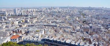 Bird eye view of Paris Stock Images