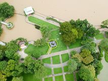 Bird eye view park at Thailand. Bird eye view park at somewhere of Bangkok Thailand Royalty Free Stock Image