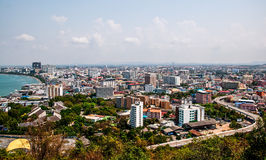 The Bird eye view of pattaya city Royalty Free Stock Image